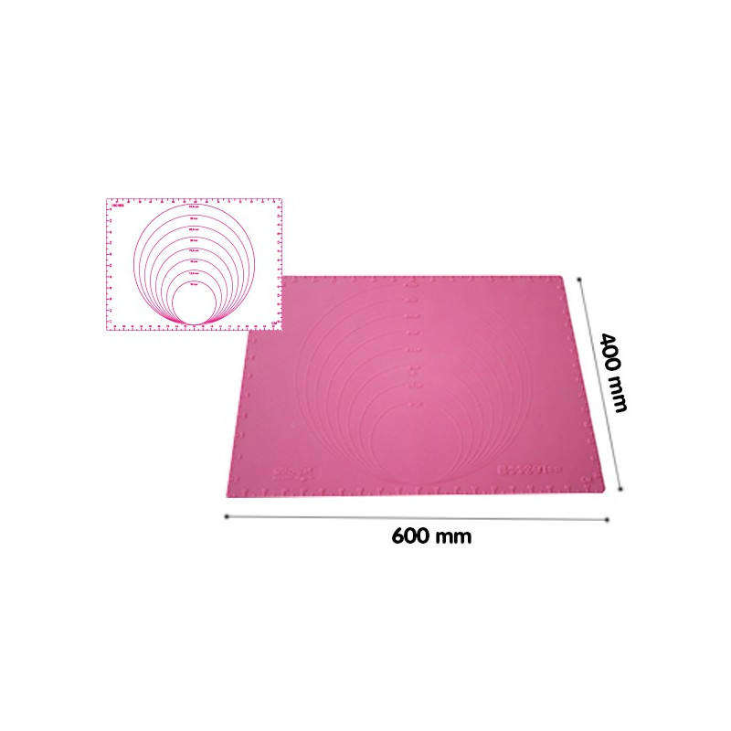 Precision Mat 600x400 Silicone Mat With Diameter And