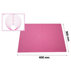 PRECISION MAT 400X300 - SILICONE MAT WITH DIAMETER AND MEASURES