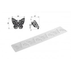 TRD02 BUTTERFLY - SILICONE MAT 80X400 H 1,8 MM