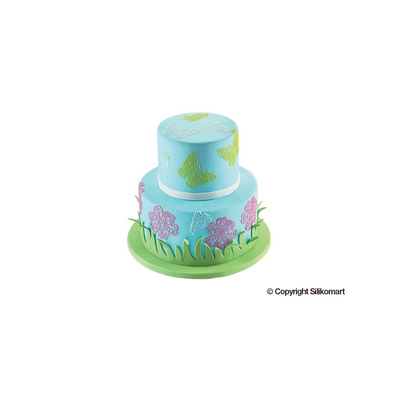 cupcake decorating ideas trd02 butterfly silicone mat 80x400 h 1 8 mm cake 12789