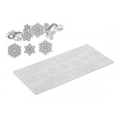 TRD18 SNOWFLAKES - SILICONE MAT 400X200 H 1,8 MM