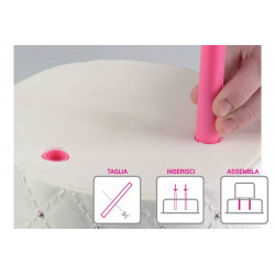 PIOLI CAKE DESIGN - HOLLOW CAKE DESIGN - KIT 5 HOLLOW PLASTIC 300 MM/ø15 MM