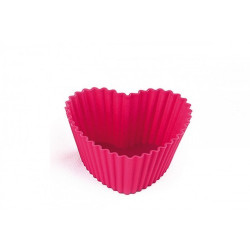HEART - SET 6 SILICONE Mold FOR CUPCAKES 70,5X65,5 H 33 MM