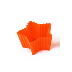 STAR - SET 6 SILICONE Mold FOR CUPCAKES 70X66,5 H 36 MM