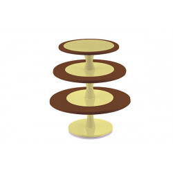 Cake Stand - Choco Brown- Extra Large